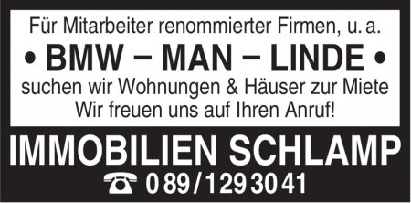IMMOBILIEN SCHLAMP ☎089/129