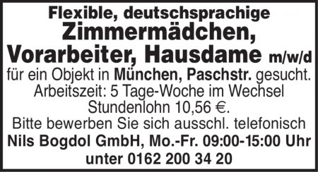 Flexible, deutschsprachige Zim