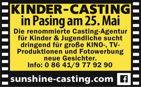Kinder-Casting in Pasing am 25