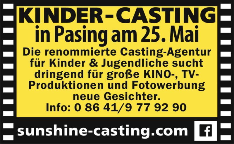 KINDER-CASTING in Pasing
