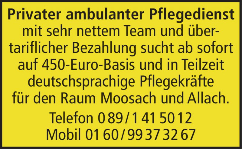 Privater ambulanter Pflegedienst