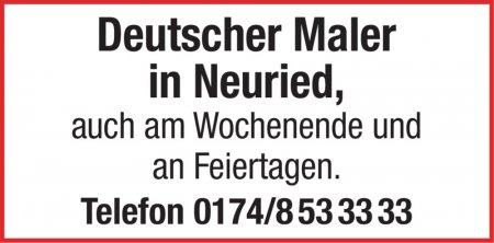 Deutscher Maler in Neuried, a