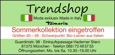 Trendshop Guardinistr. 98 ·