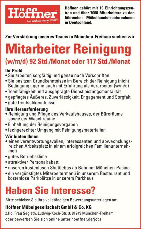 Stellenmarktstellenangebote Höffner Gehört Mit 19 Einrichtungszen