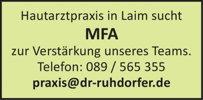 Hautarztpraxis in Laim
