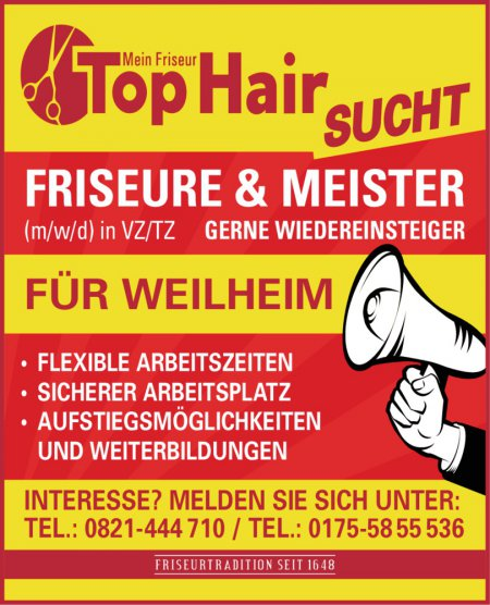 FRISEURTRADITION SEIT 1648 SU