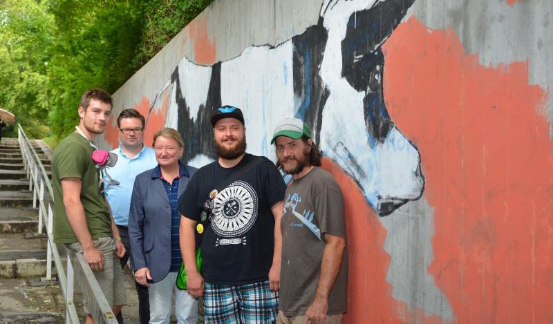 ganz legal graffiti kunst in der unterf hrung