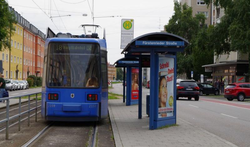 München Laim Schienenersatzverkehr Für Die Tram 18 Bis